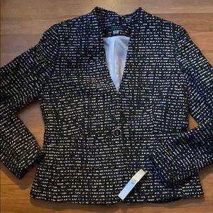 NWT Tahari black and white blazer, 8